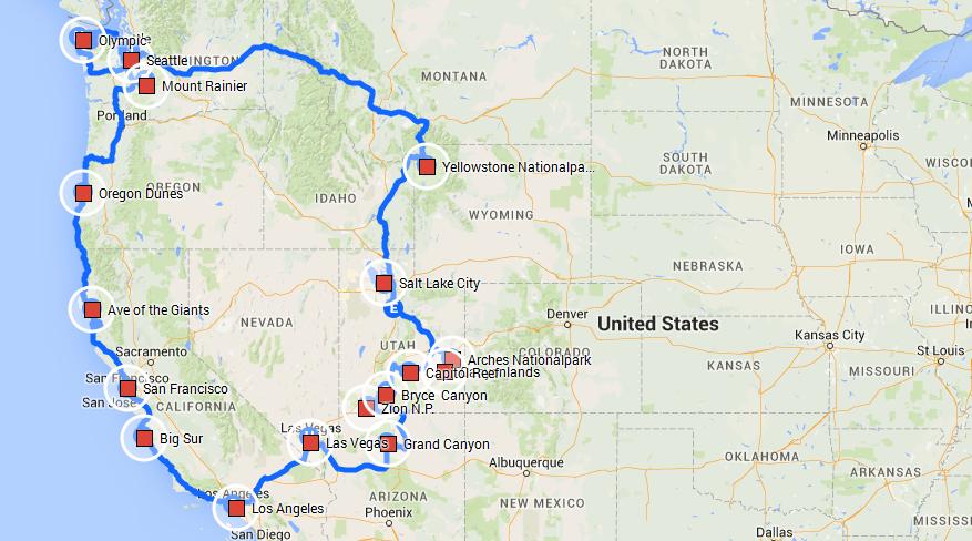 Rundreise Durch Den Gesamten Westen Der Usa Usa Reisen Tips